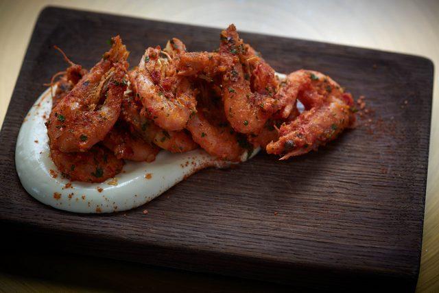 resized Ham&Sherry_Garlic & Chilli Prawns, Lemon Aioli