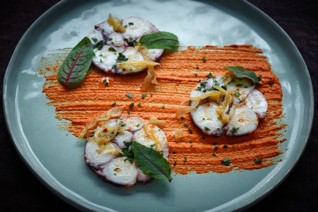resized Ham&Sherry_Octopus Terrine, Saffron Aioli