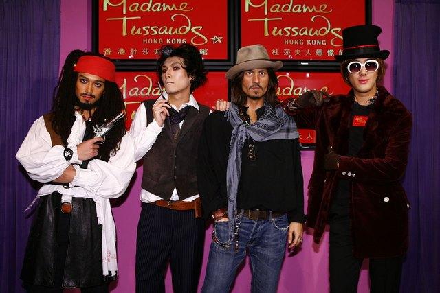 Madame Tussauds Hong Kong - Johnny Depp wax figure interactive photo