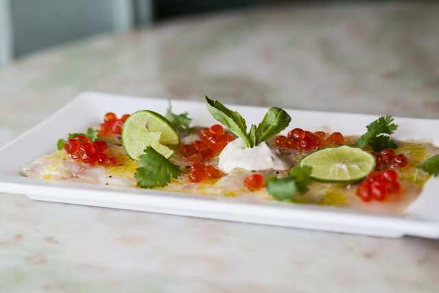 Dining St Germain - Sea Bass Carpaccio - HD